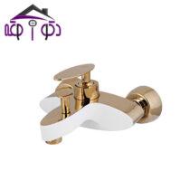 شیر حمام مدل دراگون سفید طلایی کرومات
