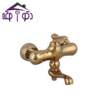 شیر حمام مدل ماموت طلایی کرومات
