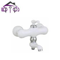 شیر حمام مدل ماموت سفید کروم کرومات
