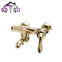 شیر حمام مدل پاریس طلایی کرومات