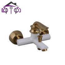 شیر حمام مدل ریما سفید طلایی کرومات
