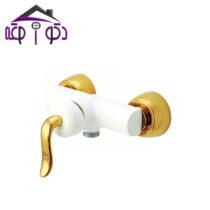 شیر توالت مدل آلفا سفید طلایی کرومات