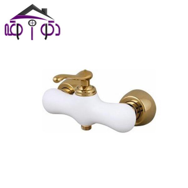 شیر توالت مدل ماموت سفید طلایی کرومات