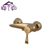 شیر توالت مدل مدیا طلایی کرومات