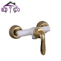 شیر توالت مدل ریما سفید طلایی کرومات