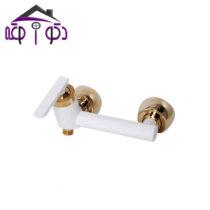 شیر توالت مدل تنسو سفید طلایی کرومات