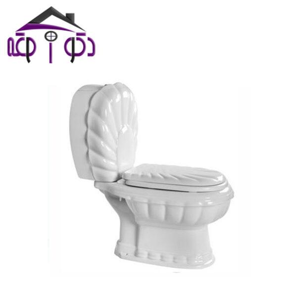 توالت فرنگی دو تکه مدل زمرد مروارید