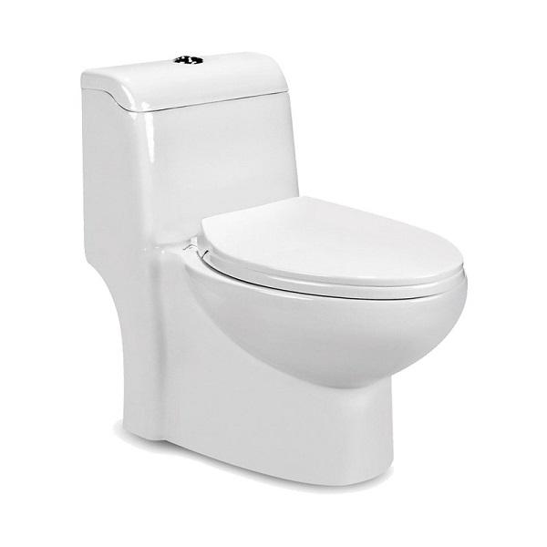 توالت فرنگی بیده دار مروارید مدل ویستا 63 درجه دو