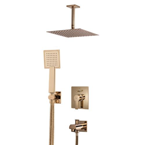 Built-in shower, golden luxury model, type 3 Clar