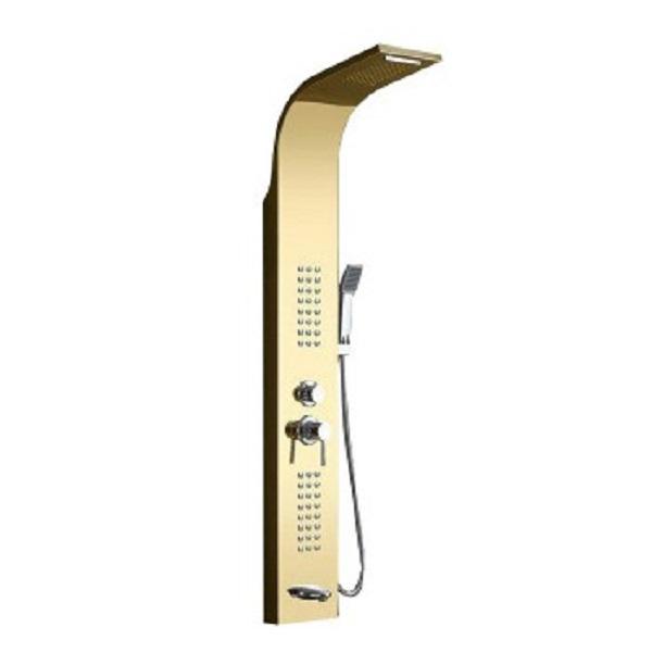 Matte golden shower panel