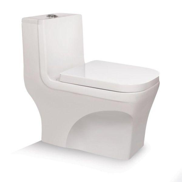 توالت فرنگی بیده دار مروارید مدل کاتیا 71 درجه دو