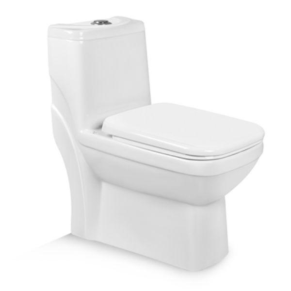 توالت فرنگی بیده دار مروارید مدل یاریس 67 درجه دو