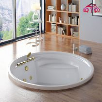 Built-in double Jacuzzi tub, model LX-1414