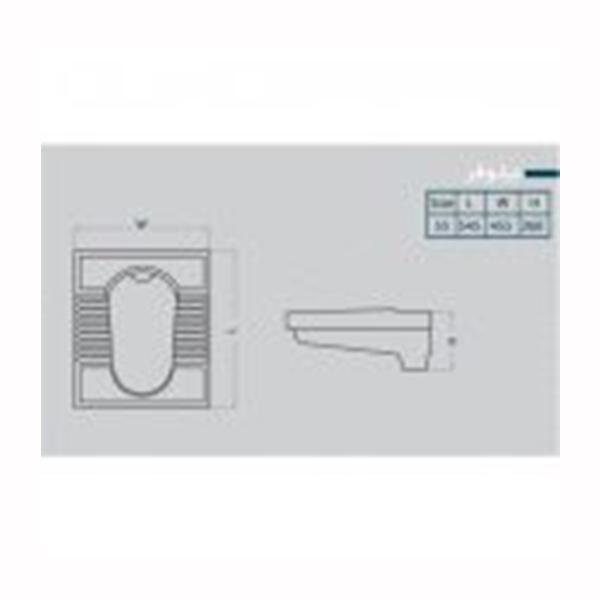 توالت زمینی گلسار فارس مدل گود نیلوفر