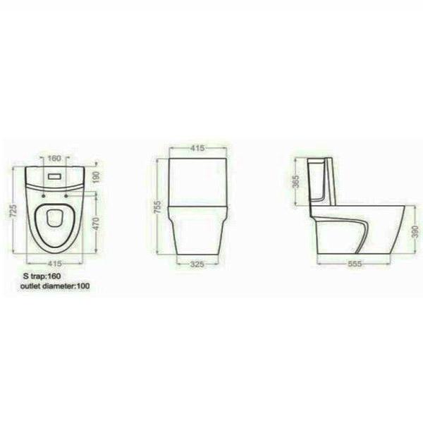 توالت فرنگی گلسار فارس مدل پلاتوس بیده دار