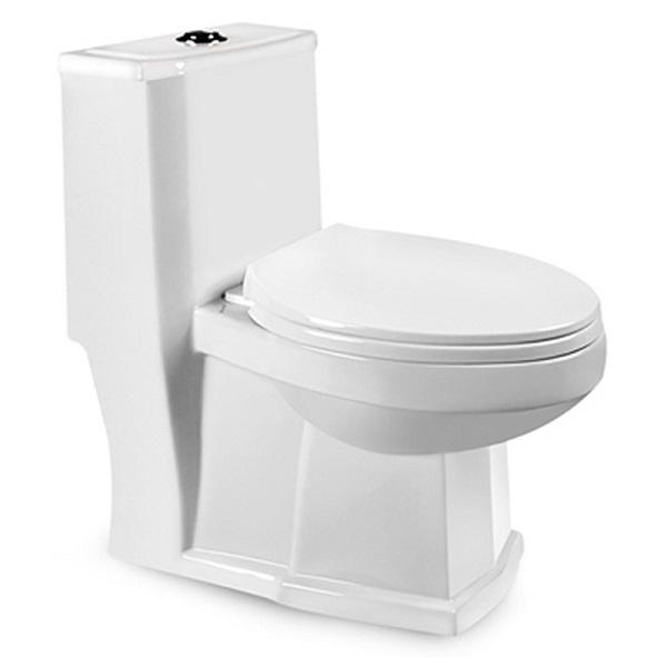 توالت فرنگی بیده دار مروارید مدل رومینا 69 درجه دو