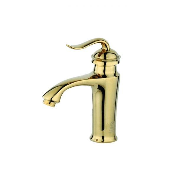 شیر روشویی تپس مدل لئوس طلایی