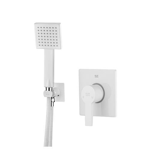 Built-in shower, white felt model, type 2 Clar