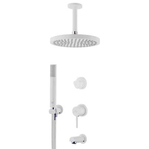 Built-in shower, luxury model white flora type 3 Clar