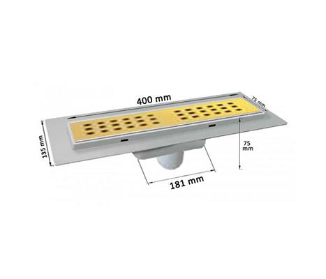 Linear sole of MTS9300-400 golden steel surface