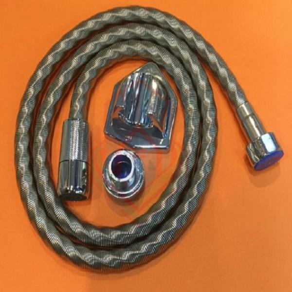 Patterned spring hose