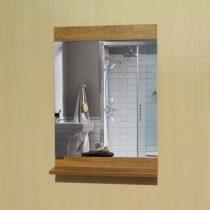 Bathroom mirror 8018 golden antique wood design