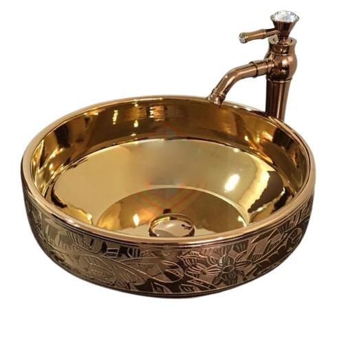 Gold luxury toilet bowl model GC056