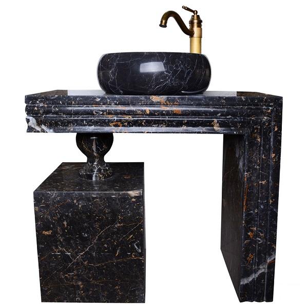 Golden Black stone toilet full set