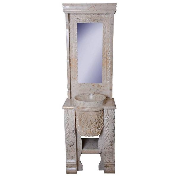 Peacock stone toilet set