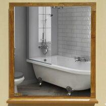 Antique mirror mirror around the frame