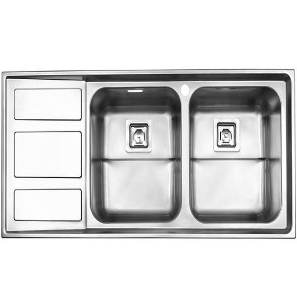 Alborz steel sink, model 765, built-in