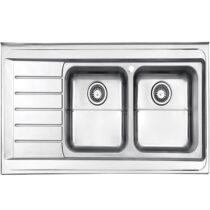 Alborz steel sink, model 735, surface